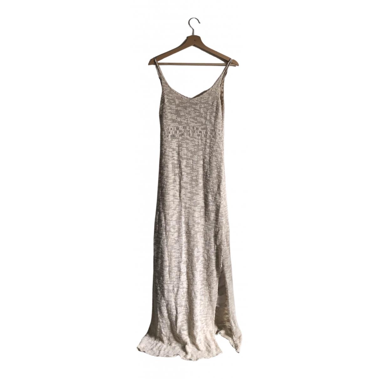 Jucca - Robe   pour femme en coton - ecru