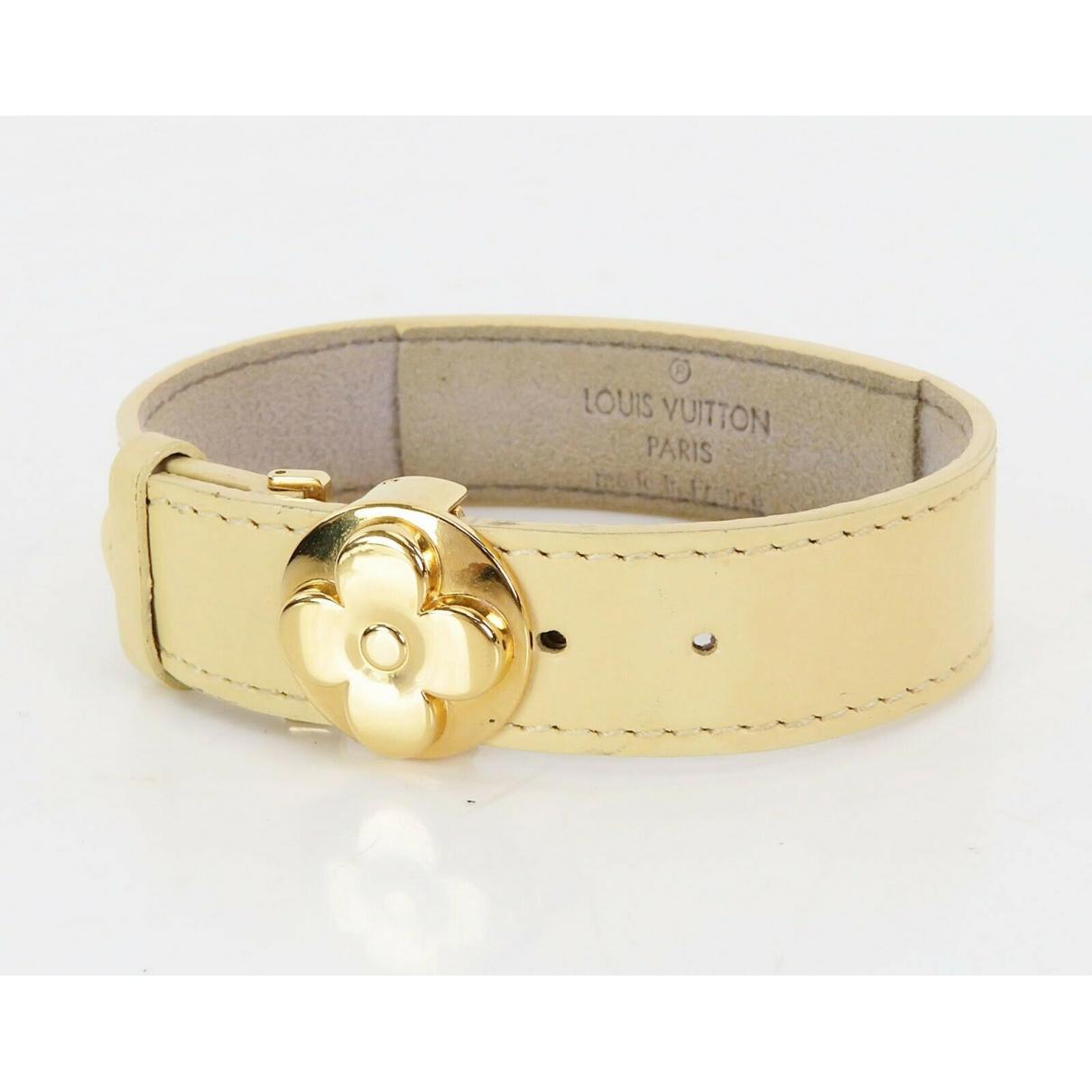 Louis Vuitton \N Beige Leather bracelet for Women \N