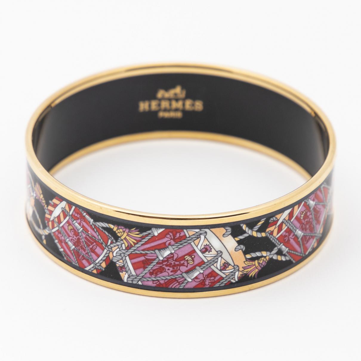 Hermes - Bracelet   pour femme en or jaune - noir