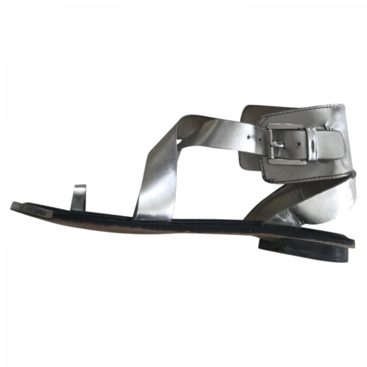 Michael Kors \N Sandalen in  Metallic Leder