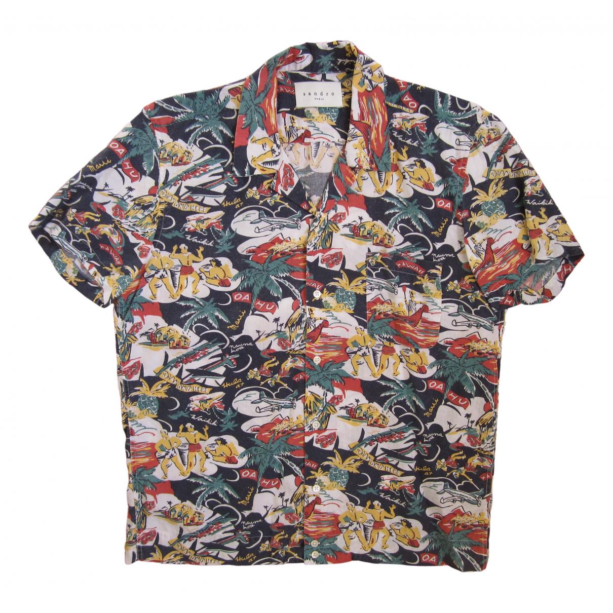 Sandro \N Multicolour Cotton Shirts for Men M International