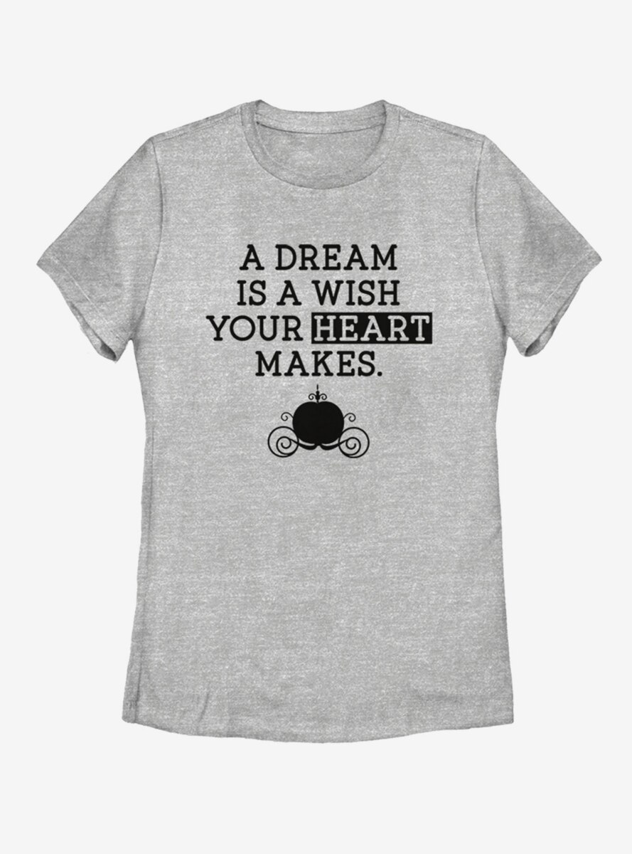 Disney Cinderella Dream Wish Womens T-Shirt