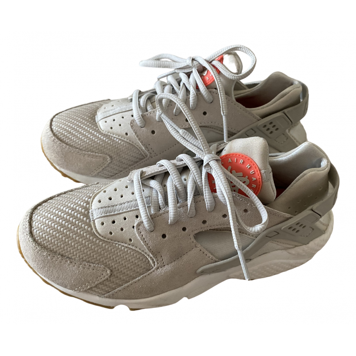 Nike Huarache Beige Cloth Trainers for Women 5 UK