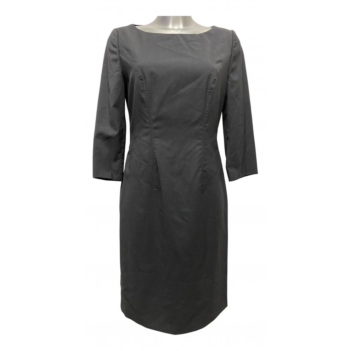 Boss N Anthracite Wool dress for Women 40 FR