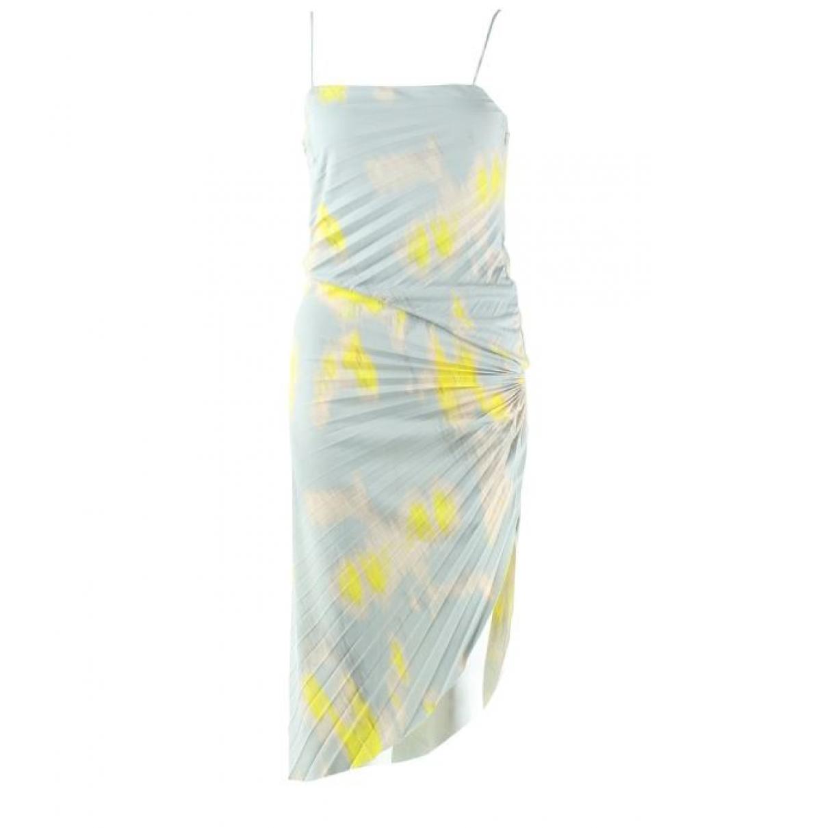 Halston Heritage \N Kleid in  Blau Polyester