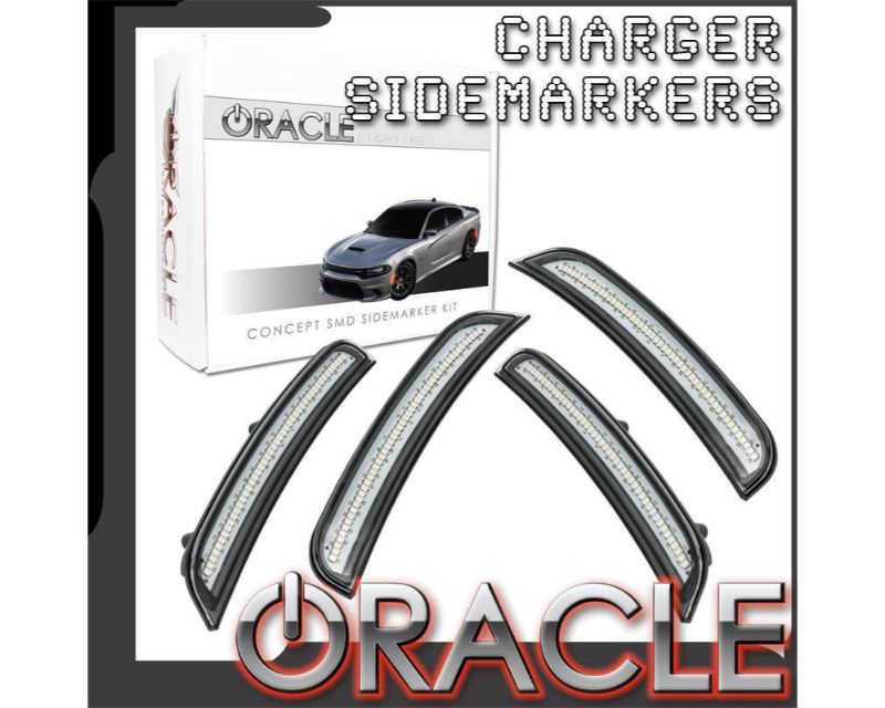 Oracle Lighting 9880-PAU-G Concept SMD Sidemarker Set Granite Crystal Metallic - GHOSTED Dodge Charger 2015-2021
