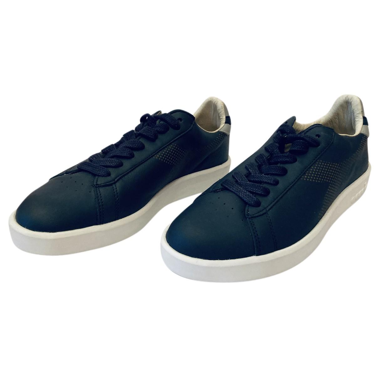 Diadora Heritage \N Sneakers in  Blau Leder