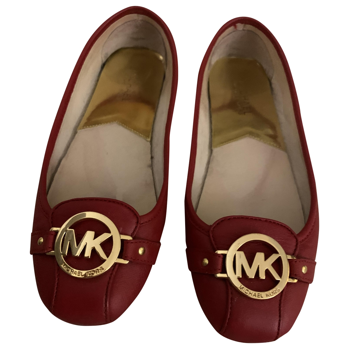 Michael Kors \N Red Leather Ballet flats for Women 9 US