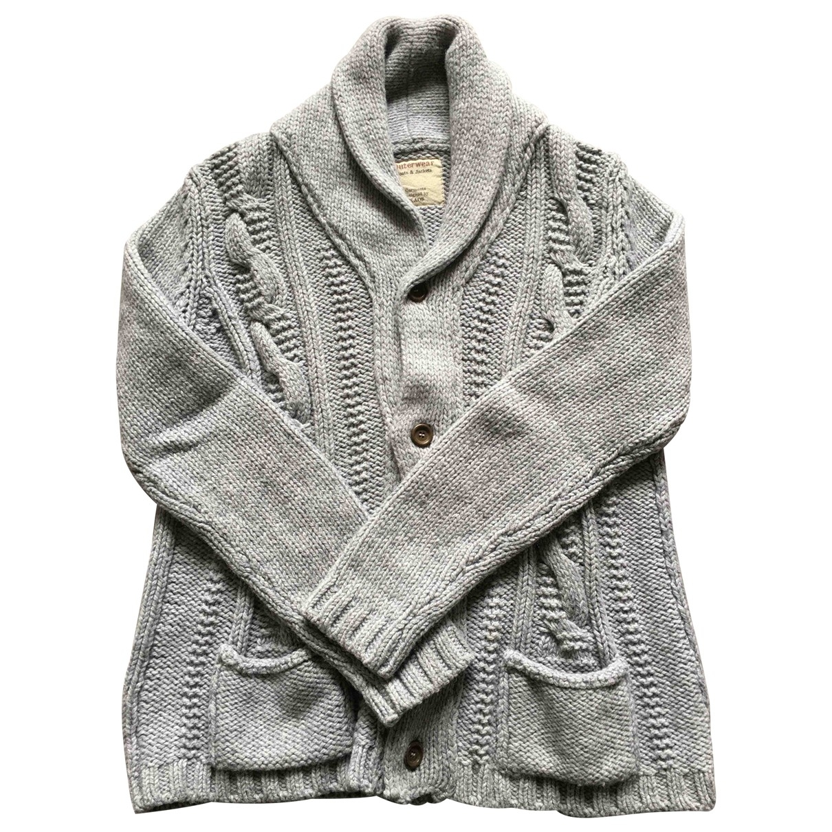 Non Signé / Unsigned \N Grey Wool Knitwear & Sweatshirts for Men L International
