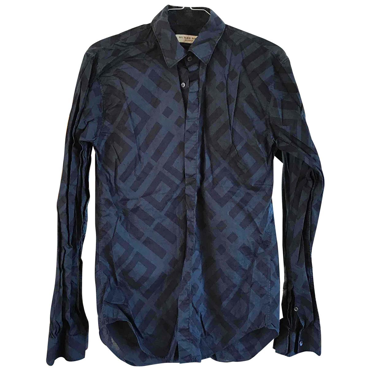 Burberry - Chemises   pour homme en coton - bleu