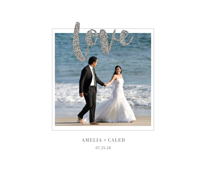 Love Canvas Print, 16x20, Home Décor -Love Glitter