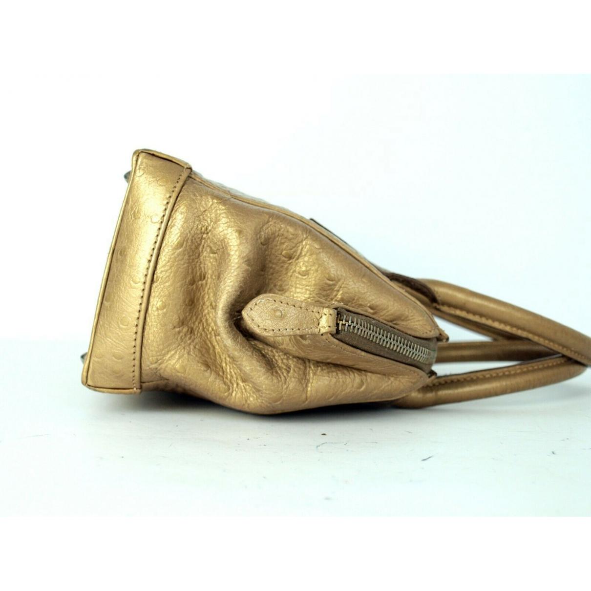Fendi - Sac a main   pour femme en cuir - dore