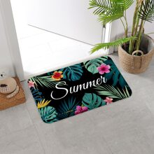 Tropical Plants Print Floor Mat