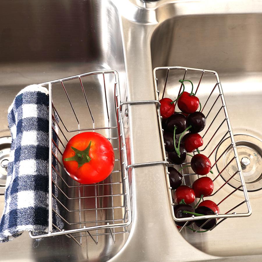 Sink Cleaning Supplies Stainless Steel Storage Rack