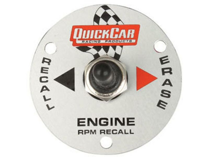 Quickcar Racing Products Remote Recall Switch Plate for 611-6002