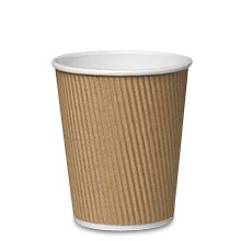 12 Oz Kraft Ripple Hot Cup - Quantity: 500 - Household Supplies by Paper Mart