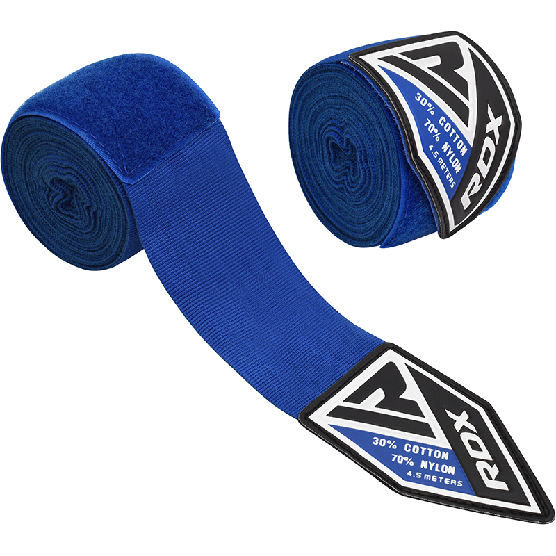 RDX RB Hand Wrap Elasticated Polyester 4.5m Blue