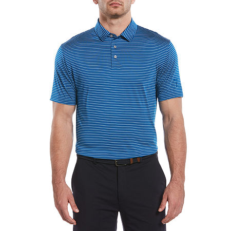 PGA TOUR Mens Short Sleeve Polo Shirt, Small , Blue