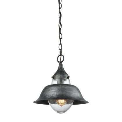 56570/1 Stratham 1 Light Pendant in Silvered Graphite with Seedy