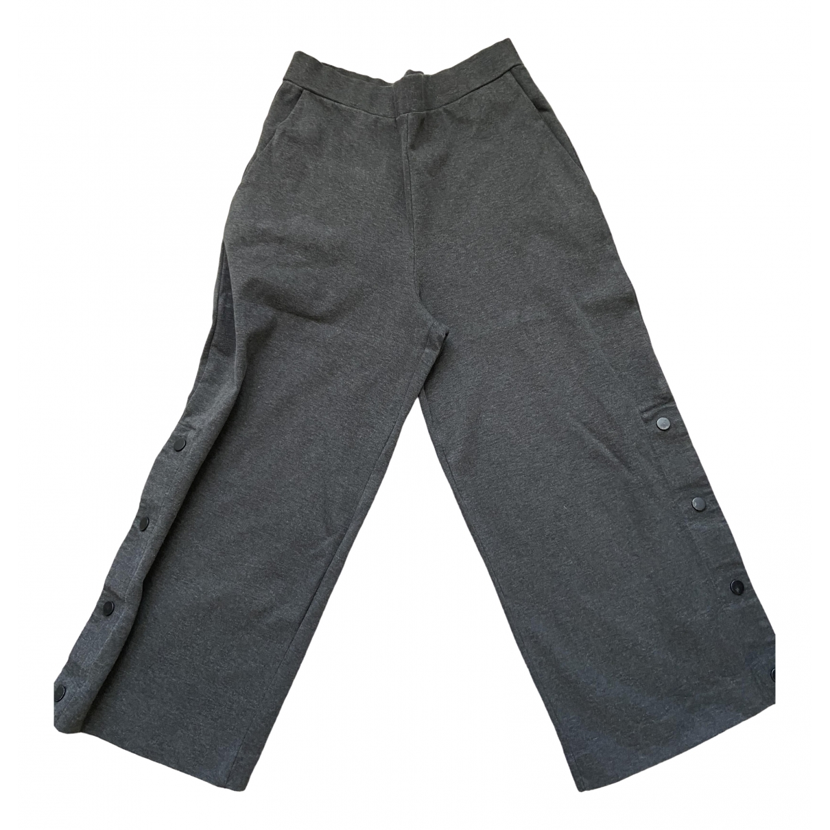 Cos \N Grey Cotton Trousers for Women XS International