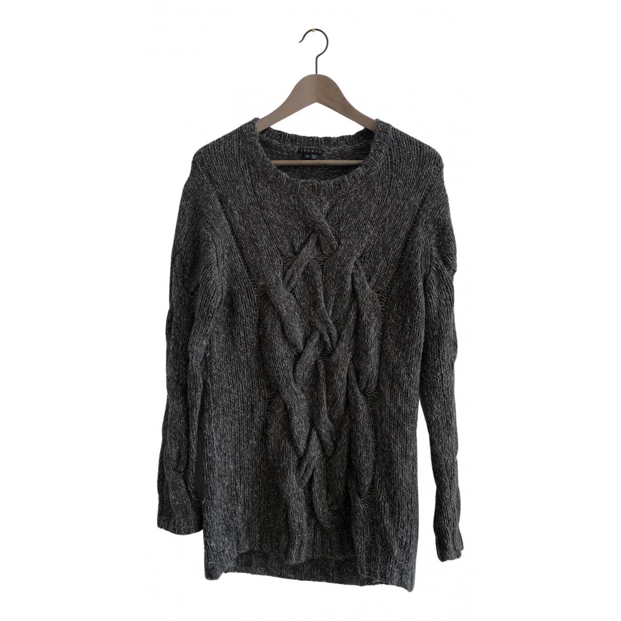 Theory - Pull   pour femme en laine - gris