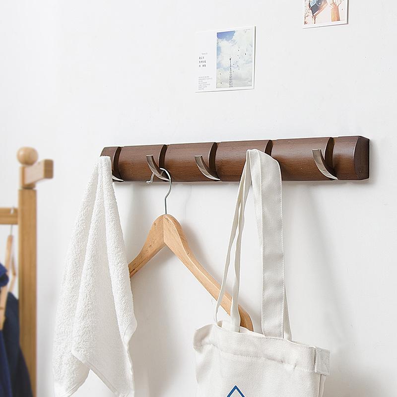 Creative Soild Wood Material Simple Japanese Style Wall Art Hook Decor