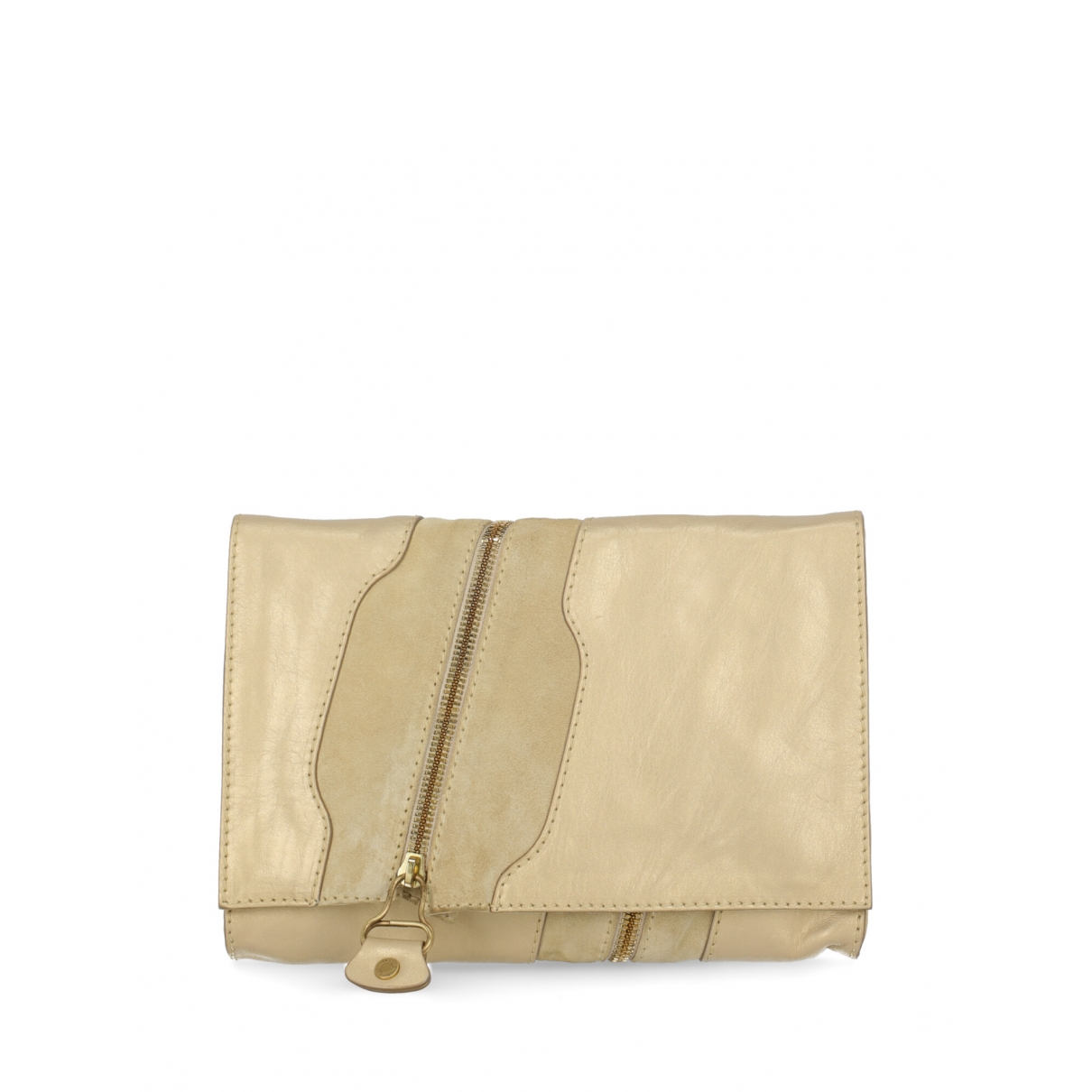 Jimmy Choo \N Clutch in  Gold Veloursleder