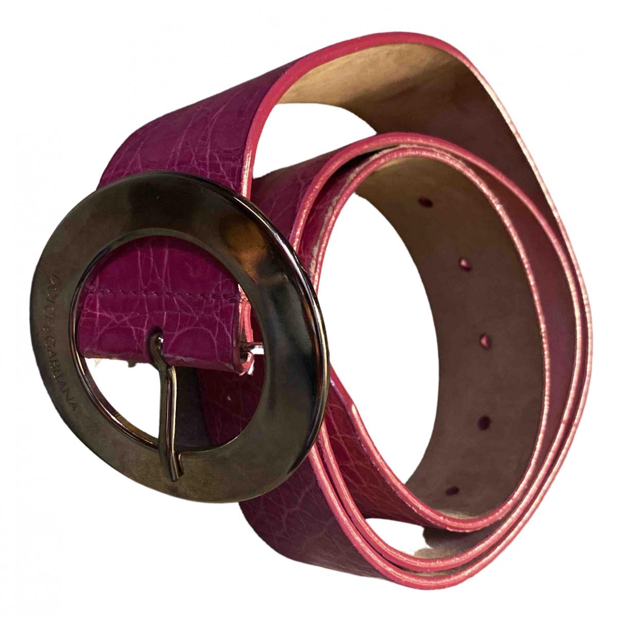 Dolce & Gabbana \N Pink Leather belt for Women 90 cm