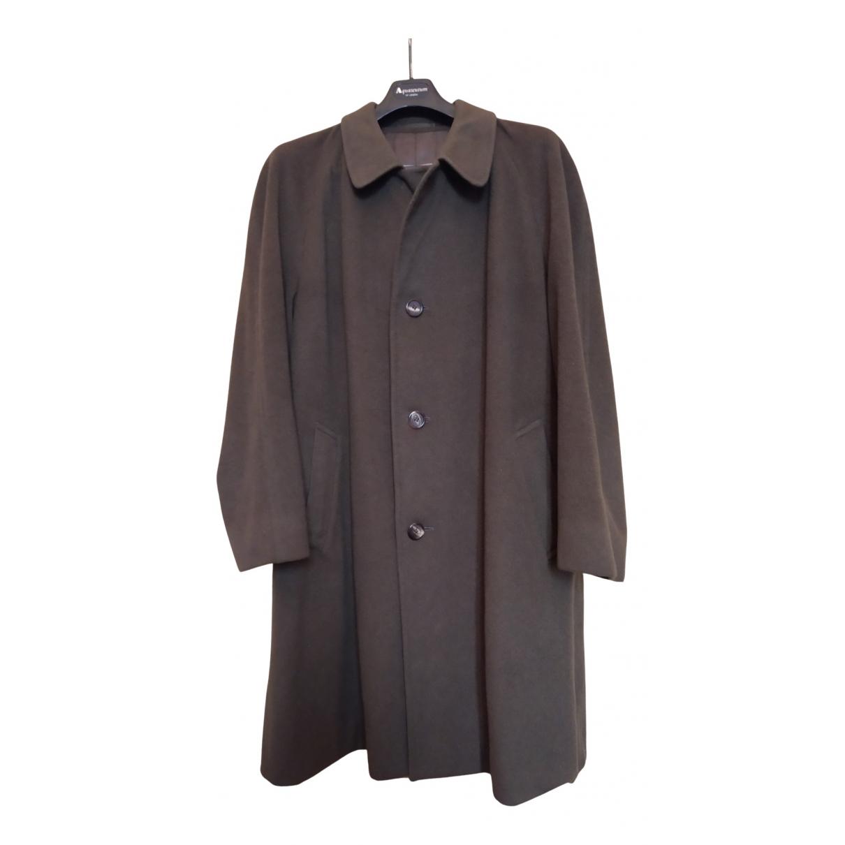 Aquascutum - Manteau   pour homme en cachemire - vert