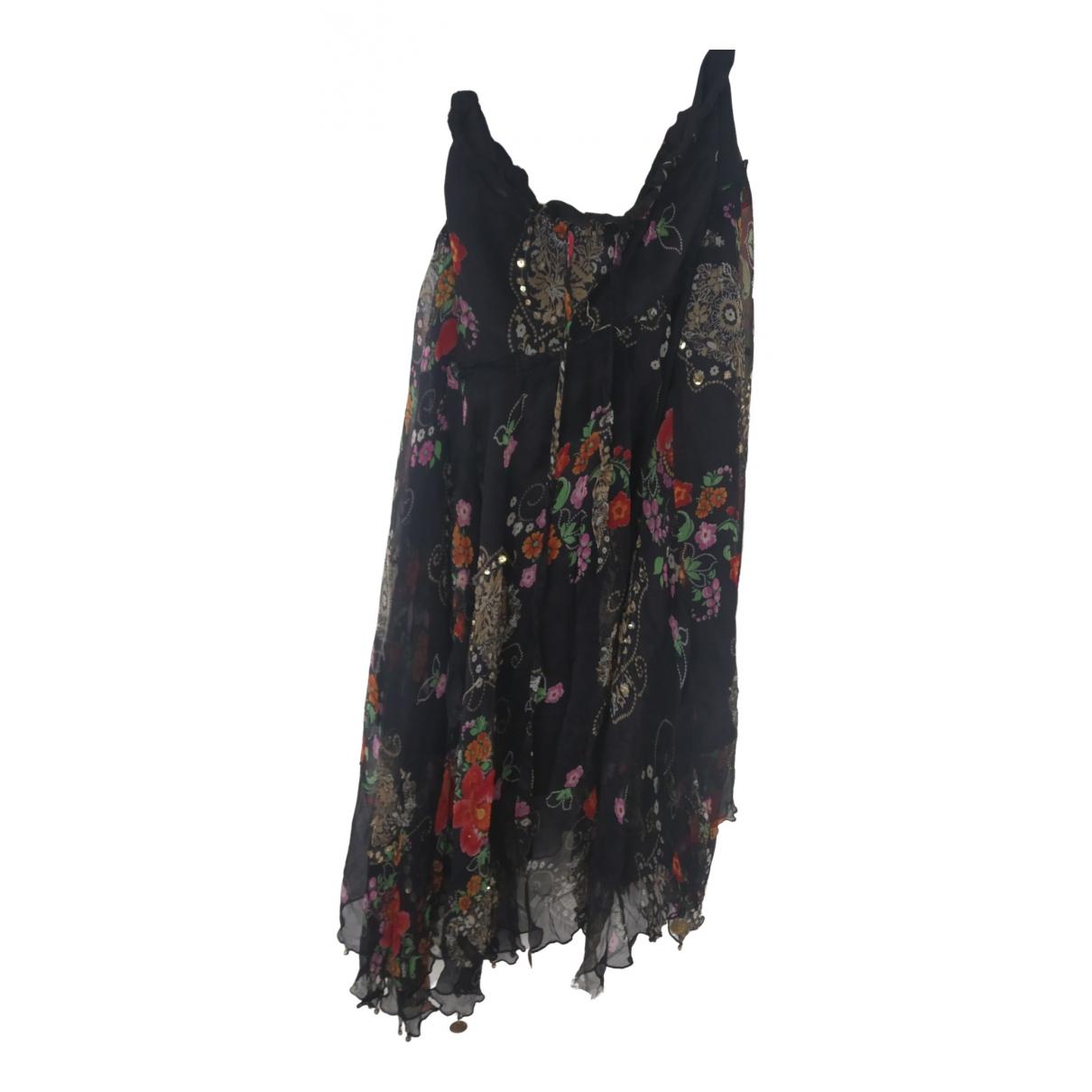 F_wd - Jupe   pour femme en soie - noir