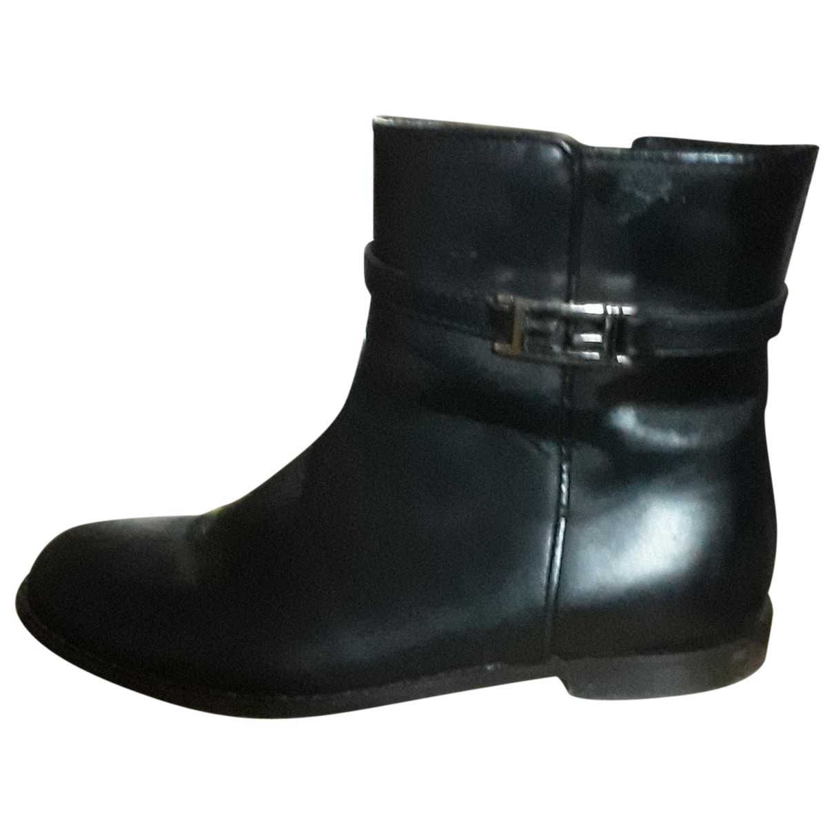 Fendi \N Black Leather Boots for Kids 32 EU