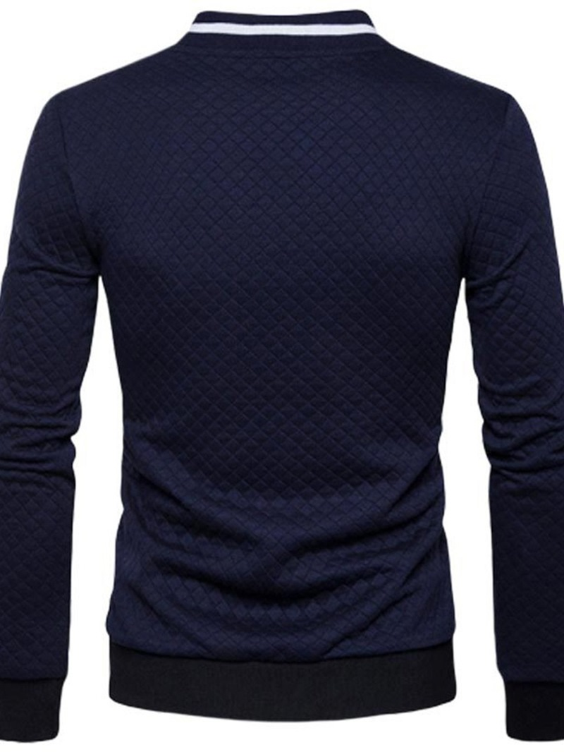 Ericdress Patchwork Stand Collar Plaid Zipper Casual Jacket