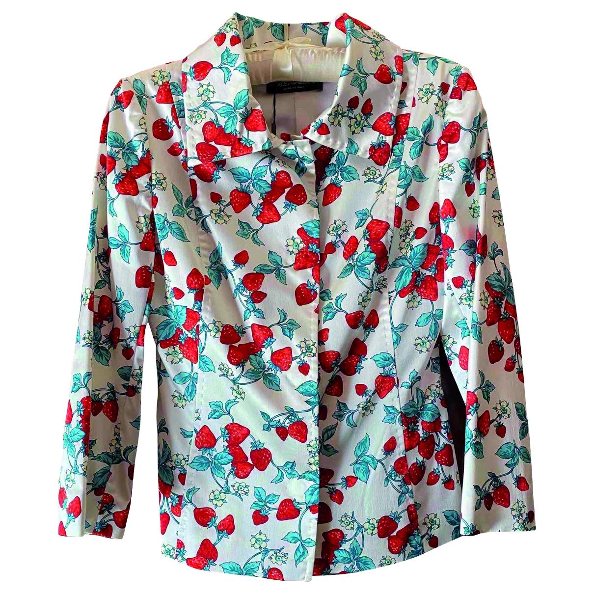 Dolce & Gabbana - Veste   pour femme en soie - blanc