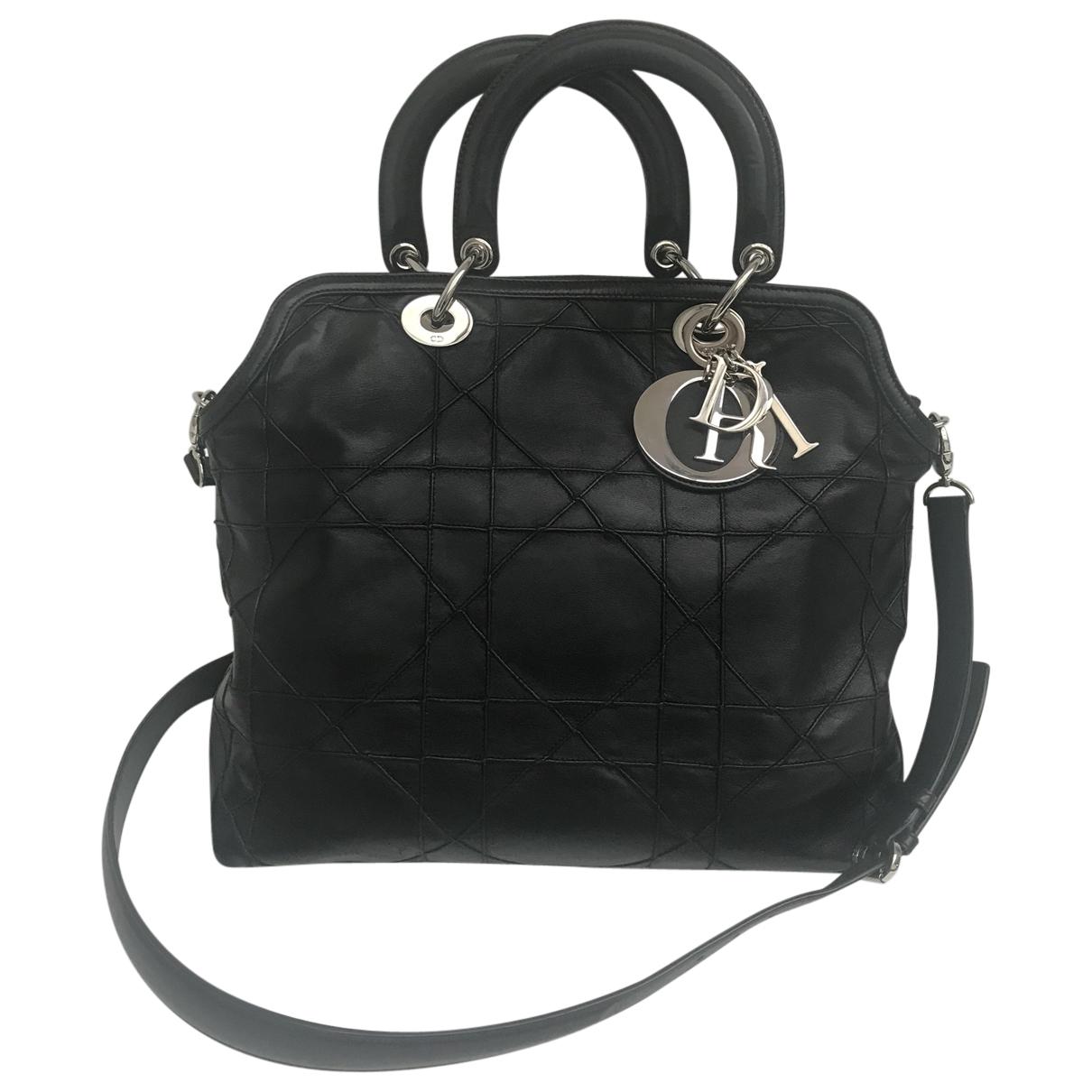 Dior - Sac a main Granville pour femme en cuir - noir