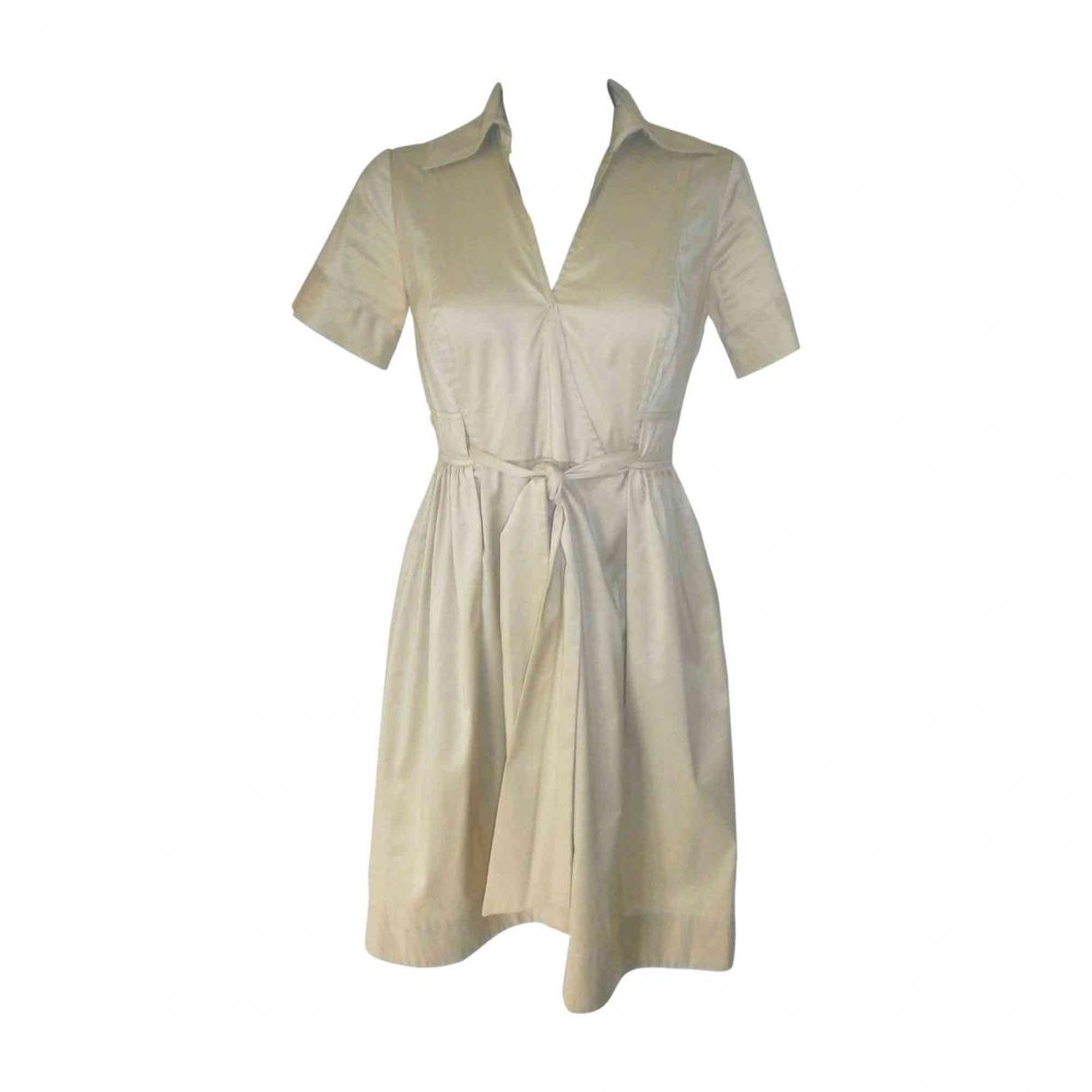 Diane Von Furstenberg \N Beige Cotton dress for Women 8 US