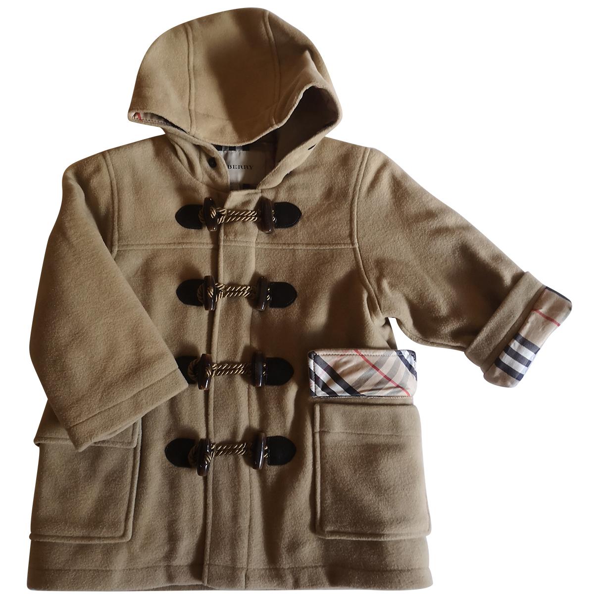 Burberry - Blousons.Manteaux   pour enfant en laine - beige