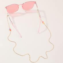 Maedchen Perlen Brille Kette