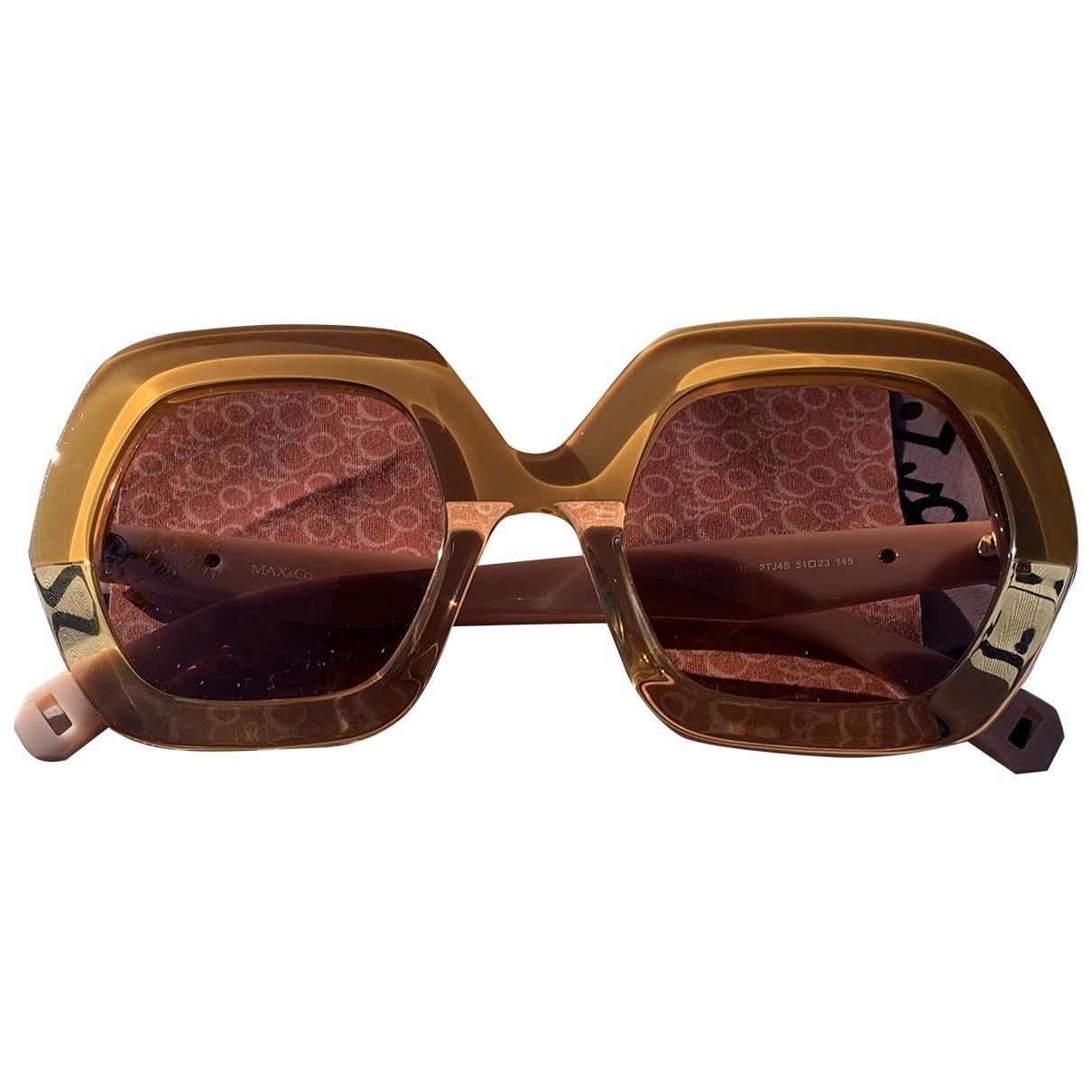 Max & Co \N Sonnenbrillen in  Beige Kunststoff