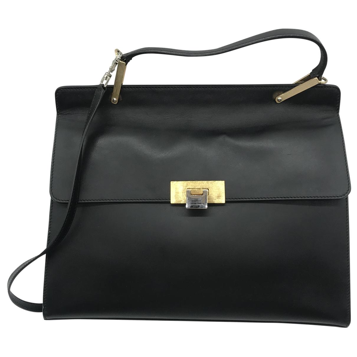 Balenciaga - Sac a main Le Dix pour femme en cuir - noir