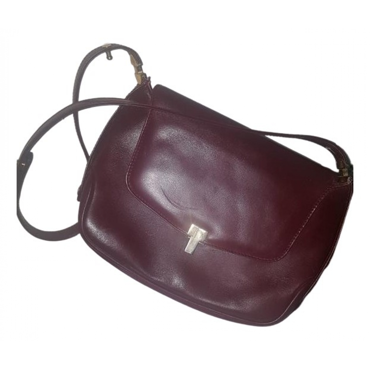 Launer \N Burgundy Leather handbag for Women \N