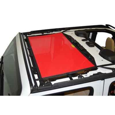 DirtyDog 4x4 Front Sun Screen (Red) - JL4S18F1RD
