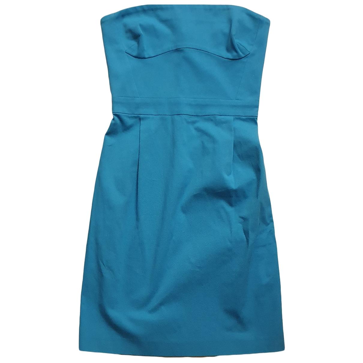Roberto Cavalli - Robe   pour femme en coton - elasthane - bleu