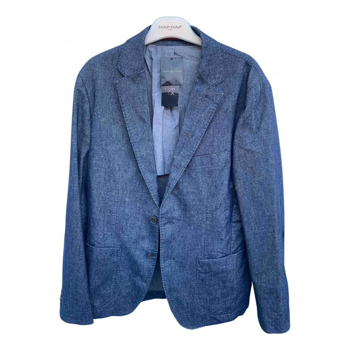 Tommy Hilfiger - Vestes.Blousons   pour homme en coton - bleu