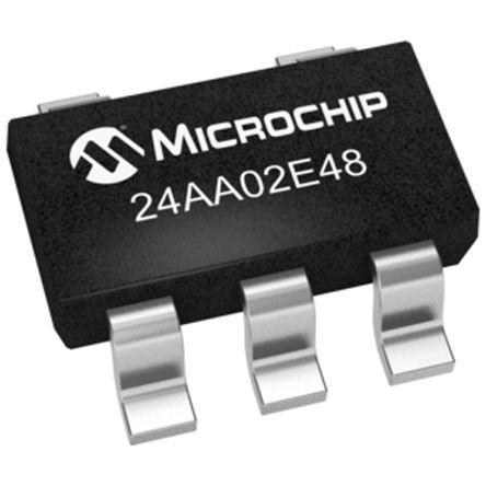 Microchip 24AA02E48T-I/OT, 2kbit Serial EEPROM Memory, 3500ns 5-Pin SOT-23 I2C (10)