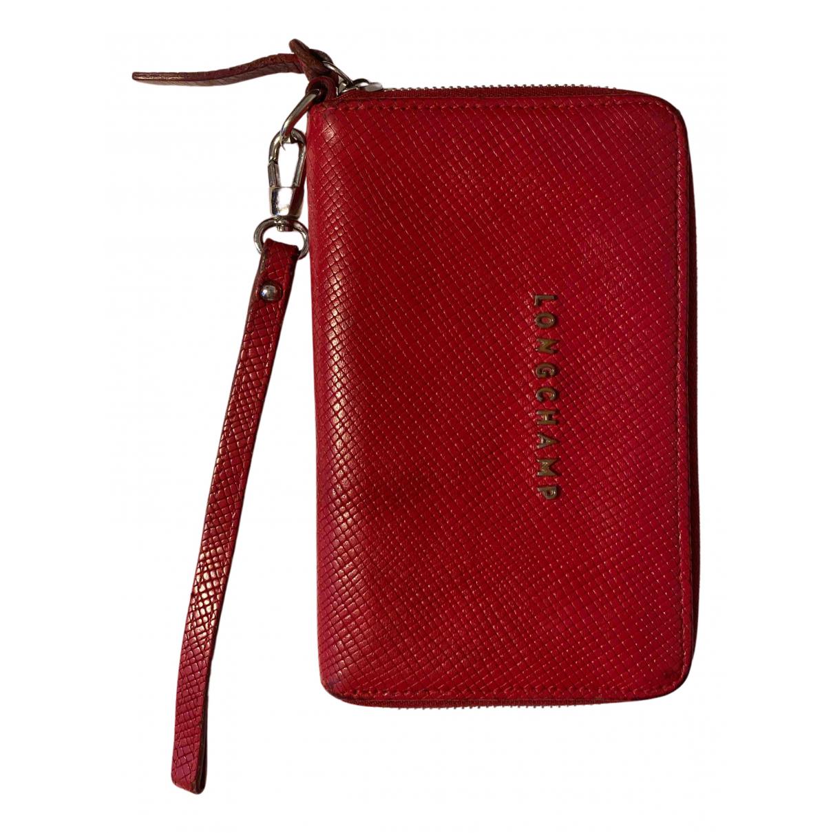 Longchamp \N Portemonnaie in  Rot Leder