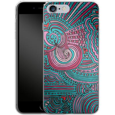 Apple iPhone 6s Plus Silikon Handyhuelle - Drawing Meditation Turquoise von Kaitlyn Parker