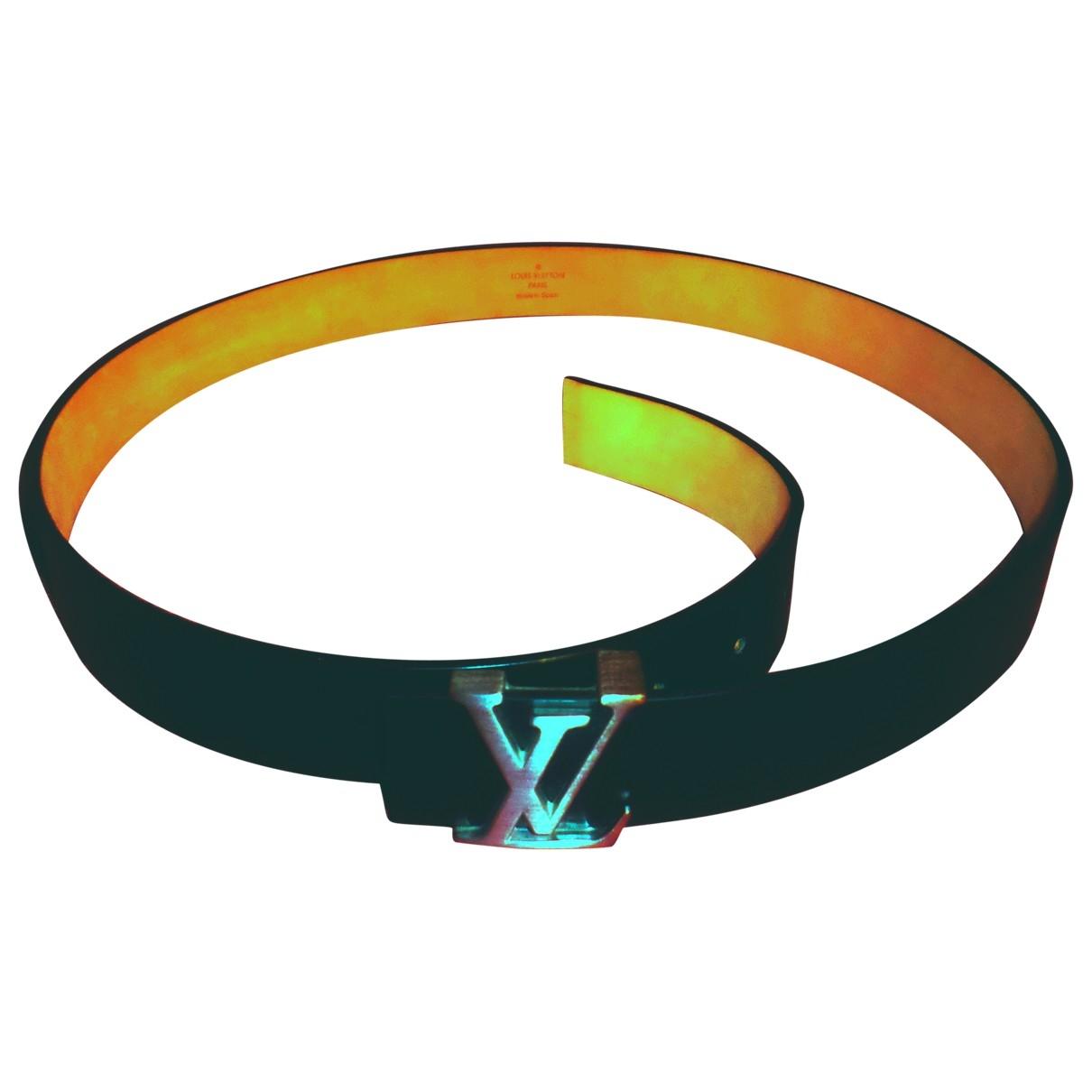 Louis Vuitton Shape Black Leather belt for Men 100 cm