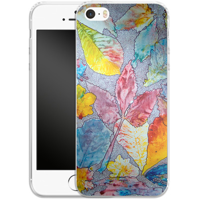 Apple iPhone SE Silikon Handyhuelle - Spring Drawing Meditation von Kaitlyn Parker