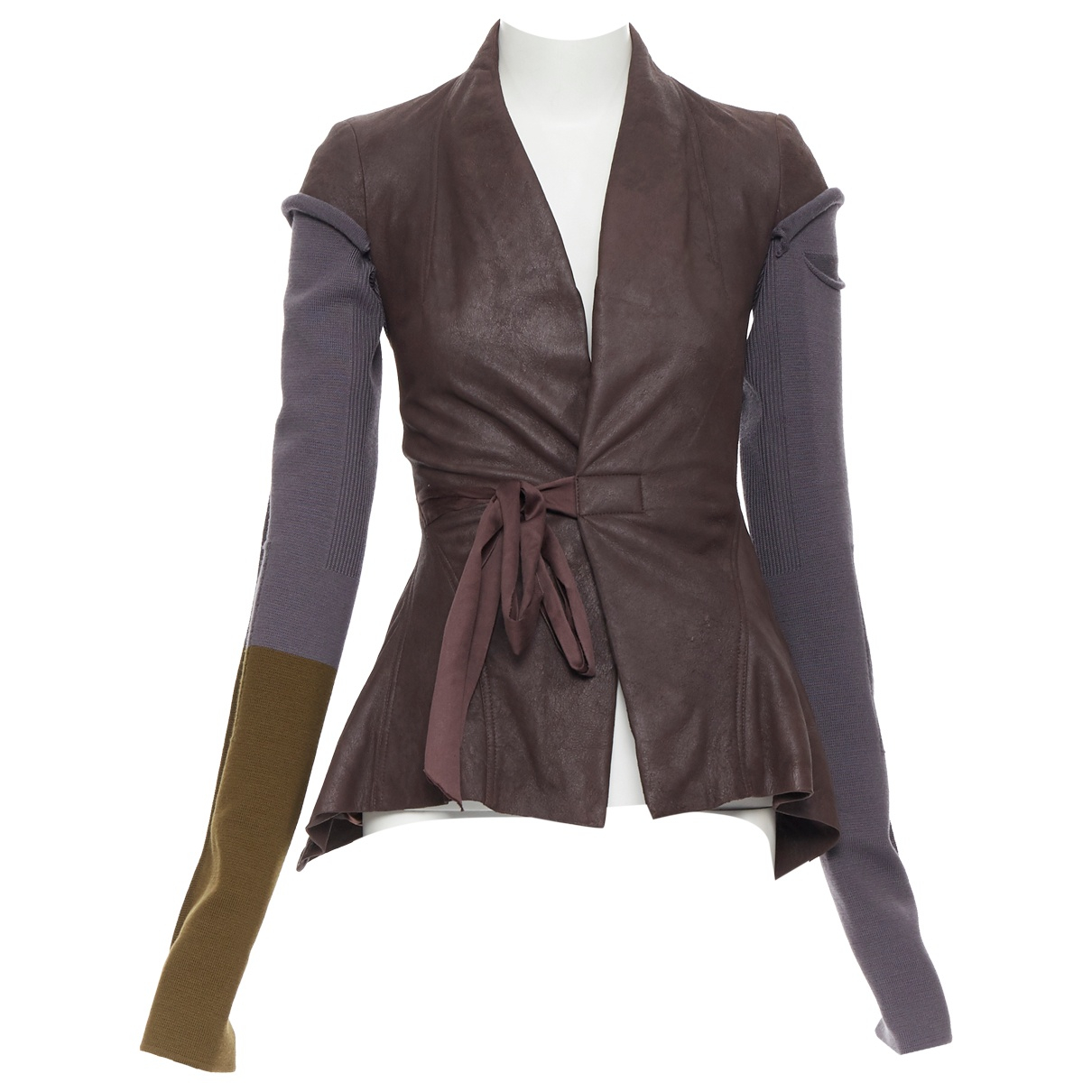 Rick Owens \N Brown Leather jacket for Women 38 IT