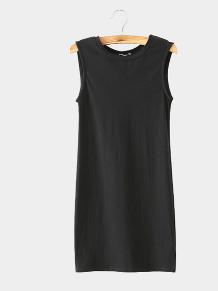 Yoins Back Hollow Out Sleeveless Mini Dress